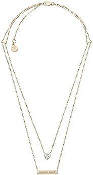Michael Kors Rose Gold Modern Brilliance Lobster Clasp Pendant Necklace
