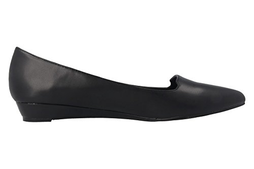 ANDRES MACHADO - Damen Keil-Pumps - Schwarz Schuhe in Übergrößen