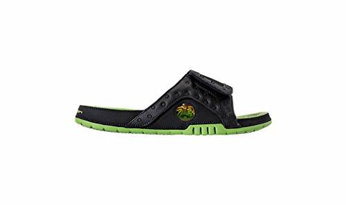 Nike Jordan Men Jordan Hydro Xiii Retro Slide Nero Altitudine Green-altitude Green Taglia 12.0 Us