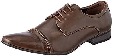 Uncut Men's BARTELL Dress Shoe, Chocolate, 10 AU