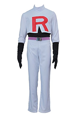 Chong Seng CHIUS Cosplay Costume Team Rocket James Outfit Ver 1 ()