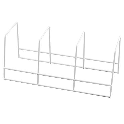 Ybm Home 4 Section Plate Rack Helper Shelf Organizer White 2552 (1, 3 Section Plate Rack)