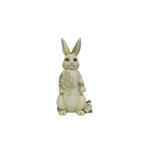 Jim Shore Heartwood Creek by Enesco White Woodland Bunny Figurine, 4.25 - Easter Shore Jim Bunny