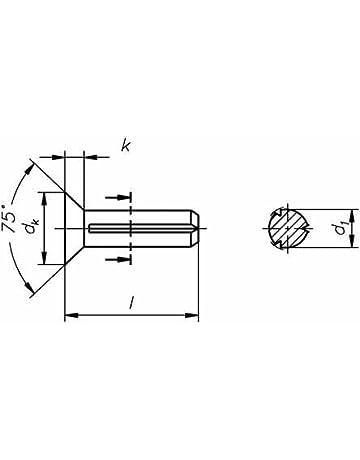 Reidl Zylinderkerbstifte 5 x 26 mm DIN 1473 Stahl blank 100 St/ück
