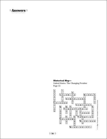 Amazoncom US Map Crosswords Grades - Us map crosswords scholastic professional books answers