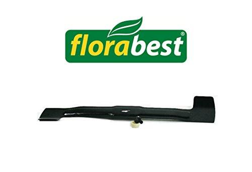 Messer FLORABEST FRM 1800 A1 + FRM 1700 + FRM 1800 - Ersatzmesser Set 44cm inkl. Hülse und Schraube für LIDL FLORABEST FRM ELEKTRO RASENMÄHER