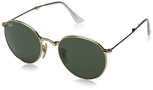 Ray-Ban RB3532 Round Metal Folding Sunglasses, Gold/Green, 50 mm (Ray-ban Aviator Folding)