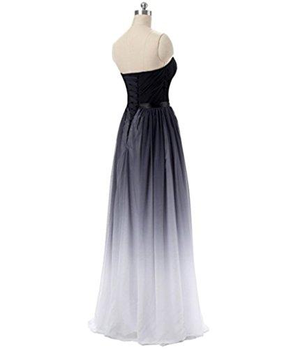 Mousseline De Soie De Gradient Dkbridal Longues Robes De Soirée De Demoiselle D'honneur Grays
