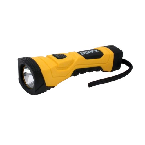 Dorcy 41-4750 CyberLight Weather Resistant LED Flashlight with Nylon Lanyard and TrueSpot Reflector, 180-Lumens, Yellow Finish, Outdoor Stuffs