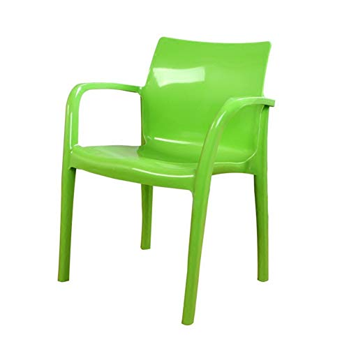 - H Dining Chair, Office Lounge Chair, Negotiation Chair,Thick Plastic Leisure Outdoor Beach Rubber Chair (Color : Green)