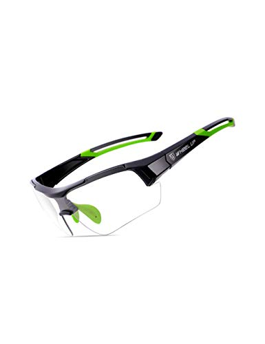 ROLLBERTO Sports Sunglasses Polarized Protection UV400 Cycling Glasses with 3 Interchangeable Lenses for Cycling,Baseball,Fishing,Golf,Ski Running (Green) ()