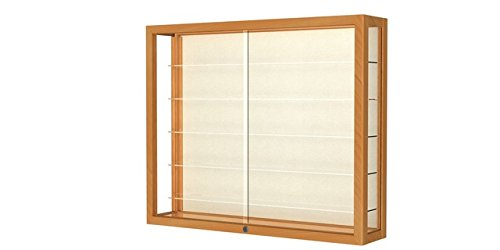 Heirloom Series Display Case - Heirloom Series Wall Display Case Frame Color: Autumn Oak, Case Backing: Plaque Fabric