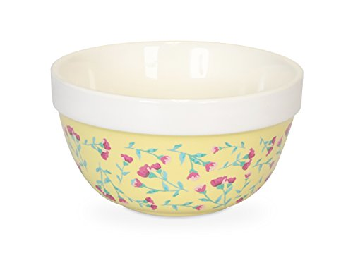 Egg Bowl White Beating (Fanci Baking by Captivate Brands FNRBPUDS Pudding Mixing, Ditsy Bowl, Yellow)