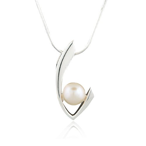 Pearl Sterling Silver Curves - 5
