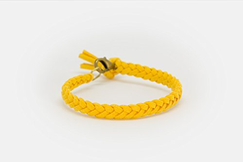 LoilJ Essential Oil Diffusing Bracelet - Braided 7in Gold Yellow