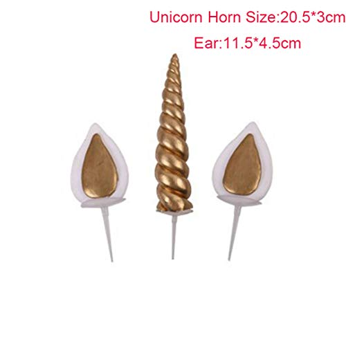 Zpriting 1Set Unicorn Sparkly Wings Cake Topper with Horn Ears Cupcake Wrappers Unicorn Birthday Party Favors Decorations for Baby Shower Style 7