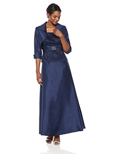 Jessica Howard Women's Peplum Jacket Dress, Navy, 12 (Jessica Howard Special Occasion Dresses)