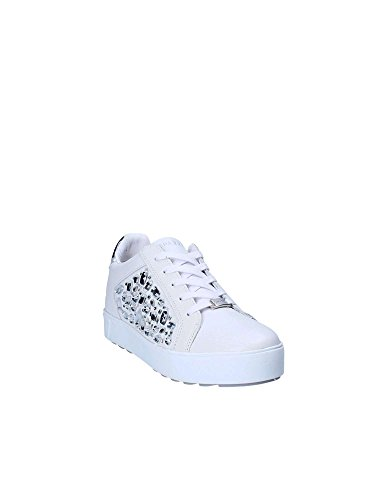 RSW16 Blanc Coin Argent Sneakers Damienne Apepazza DIAMANTS Chaussures fqSSwC