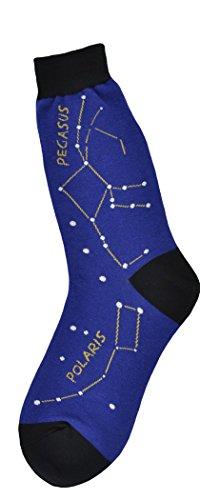 Foot Traffic - Men's Education-Themed Socks, Constellation (Shoe Sizes 7-12)