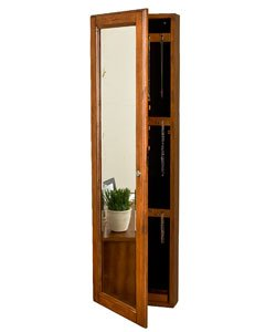 Marvelous Upton Home Carson Oak Jewelry Armoire It Doubles As A Full Length Mirror  And Jewelry Storage