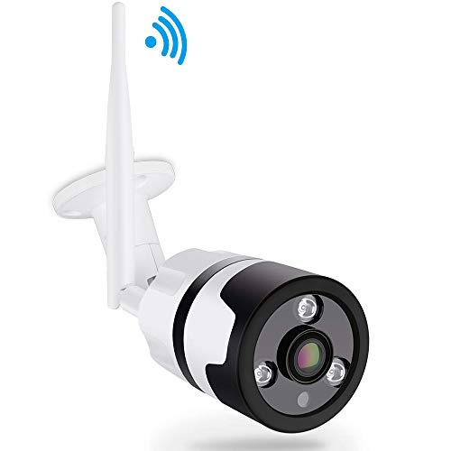 Outdoor Security Camera WiFi,LONNKY Full HD 1080P Wireless IP Bullet Camera,180 Degree Fisheye Panaramic, 2-Way Audio, Motion Detection,100Ft Clear Night Vision,Remote Access from - Waterproof Night Microphone Vision