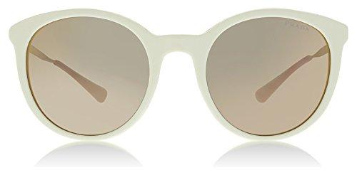 Prada Women's 0PR 17SS Ivory/Yellow/Grey Mirror Rose Gold One - Prada Yellow Sunglasses