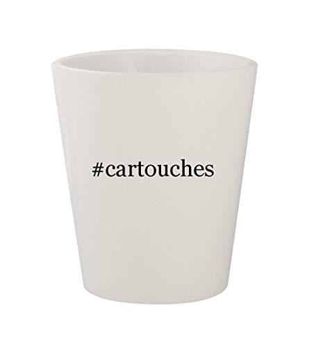 (#cartouches - Ceramic White Hashtag 1.5oz Shot Glass)