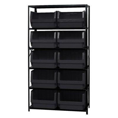 Verified Exchange Magnum Bin Unit with 6 Shelves & 10 Black Bins 19-3/4
