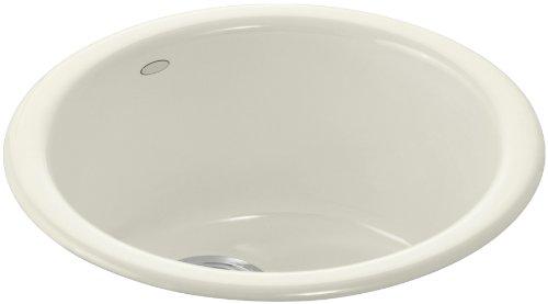 KOHLER K-6565-96 Porto Fino Self-Rimming Undercounter Entertainment Sink, (Self Rimming Bar Sink Biscuit)
