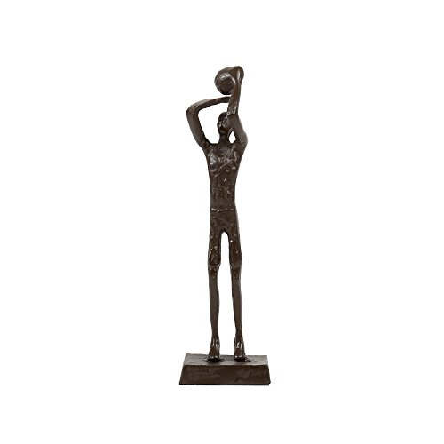 (Truu Design, Bronze-Look Basketball Player Sculpture, 2.5 x 8.5 x 1.5 inches,)