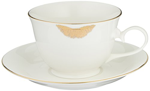 Abbott Collection China Gold Lipstick Cup w/Saucer ()
