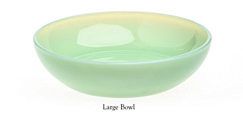 Large Jade Glass (Plain & Simple Pattern - Multi Size Bowls - Jade Jadeite Jadite Green Glass - Mosser Glass - USA (Large))