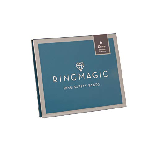 Ring Magic Ring Resizer, Ring Safety Bands, 6 Pack Large (for Ring Size 7-12)