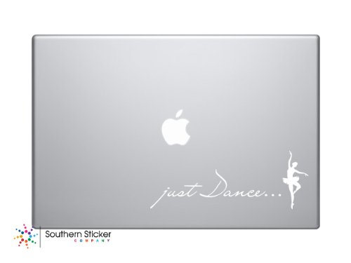 Just Dance Ballerina Dancer Vinyl Car Sticker Symbol Silhouette Keypad Track Pad Decal Laptop Skin Ipad Macbook Window Truck Motorcycle