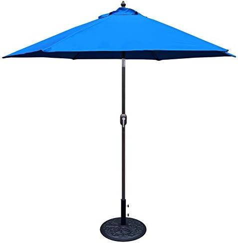 Tropishade 632B13 Premium Auto Tilt Umbrella, 9 , Blue