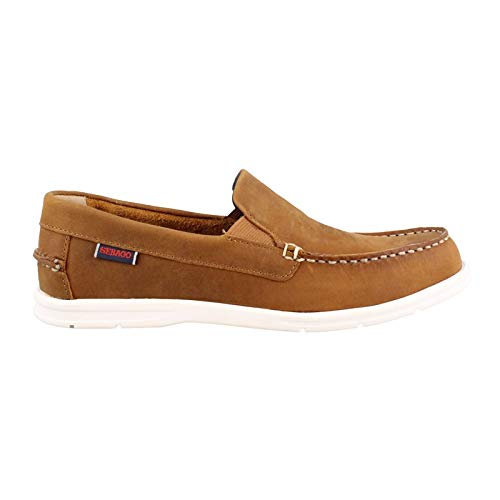 (Sebago Men's Litesides Slip On Boat Shoe,Medium Brown Leather,US 8 M)