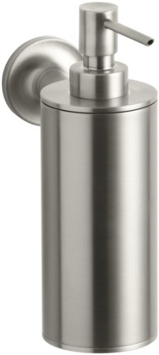 Kohler K-14380-BN Purist Wall-Mounted Soap Dispenser, Vibrant Brushed Nickel