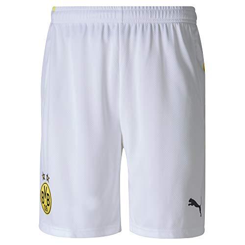 Puma BVB Shorts Replica Short Homme Puma White FR : 2XL (Taille Fabricant : XXL)
