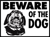 Warning! Beware of Rottweiler Aluminum Dog Sign, 12 x 9
