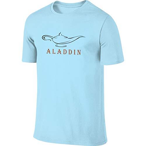ZooJane Men's Aladdin and The Magic Lamp Fashion Short Sleeve Shirt 3XL Sky -