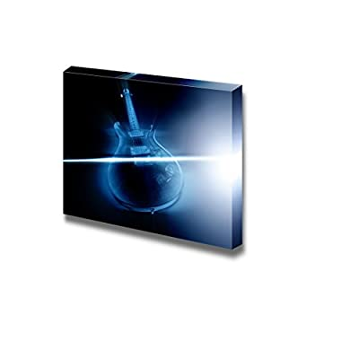 Electric Guitar and Ray of Light Musical Instrument Concept Wall Decor, Premium Product, Handsome Piece of Art