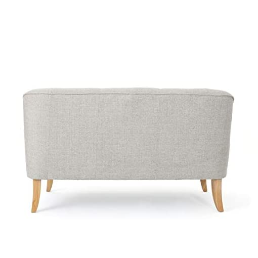 Living Room GDFStudio Christopher Knight Home Jasper Mid Century Modern Fabric Loveseat, Beige/Natural modern sofas and couches