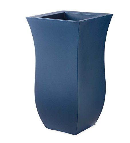 Valencia Planter with Water Reservoir, Tall - Blue, Outside 16 sq. x 30 H