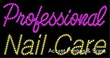 Professional Nail Care LED Sign (High Impact, Energy Efficient)