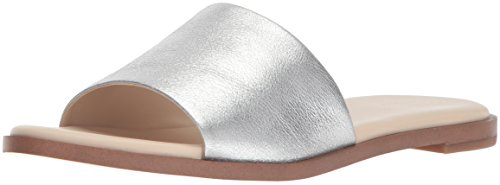 Cole The A Womens Slide Haan - Cole Haan Women's Anica Slide Sandal Silver/Metallic, 8 B US