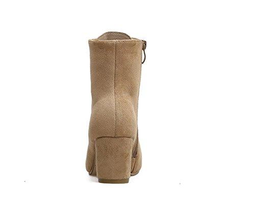stivali apricot Tacco con cerniera alto laterale spessore Hx00Ug5wq
