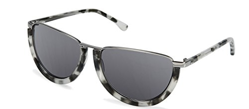 Cynthia Rowley Eyewear No. 74 Black/White Tortoise Round Metal ()