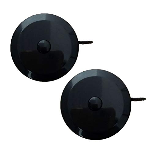 Toyvian 2 Pcs 1.5M 60 Inch Round Tape Measure Retractable Measuring Tape Body Measure Tape for Sewing Measurements (Black)
