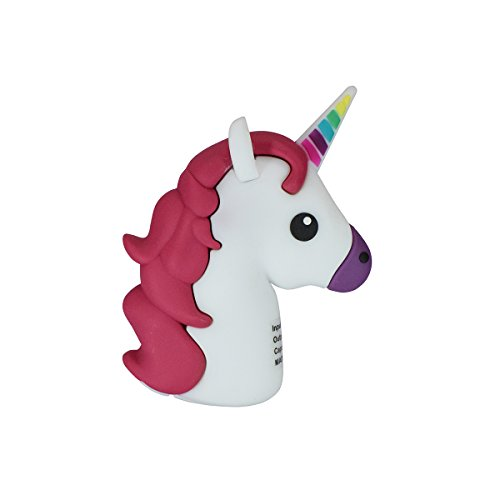 New 2600mah Mini Unicorn Shaped Emoji Cute Christmas Gift Power Bank External Battery Packs Portable Mobile Phone Charger For Iphone 7 8 plus x Samsung Galaxy Note (mini white)