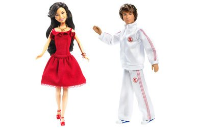 High School Musical Troy & Gabriella Poseable Doll Figure Toys -